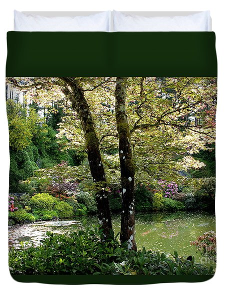 Serene Garden Retreat Duvet Cover