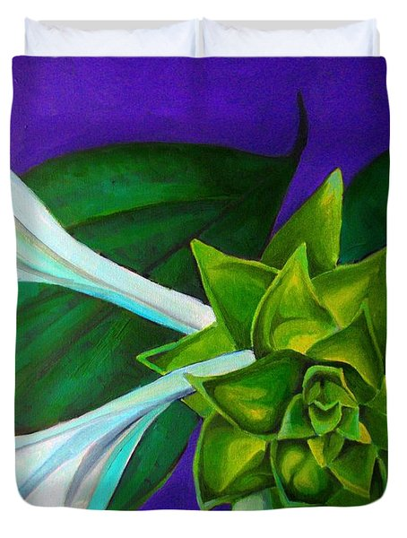 Serene Green One Duvet Cover
