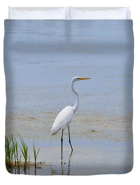 Duvet Cover featuring the photograph Serene by Judith Morris
