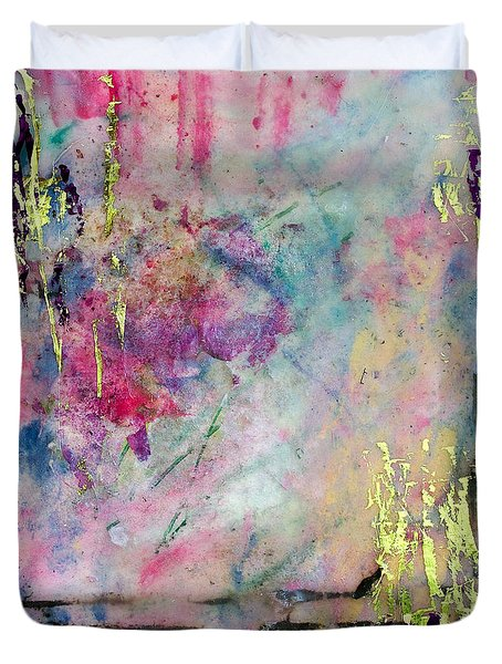 Serene Mist Encaustic Duvet Cover by Bellesouth Studio
