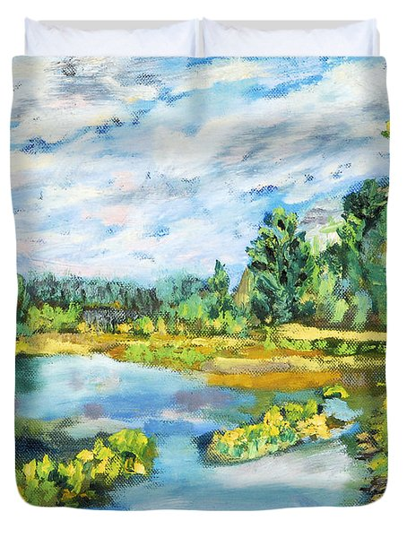 Serene Pond Duvet Cover