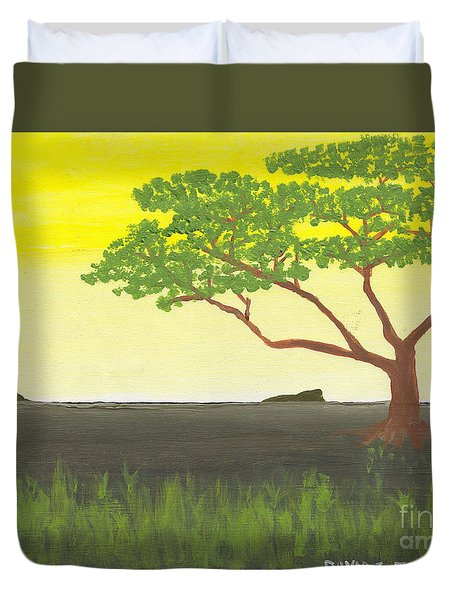Duvet Cover featuring the painting Serengeti by David Jackson