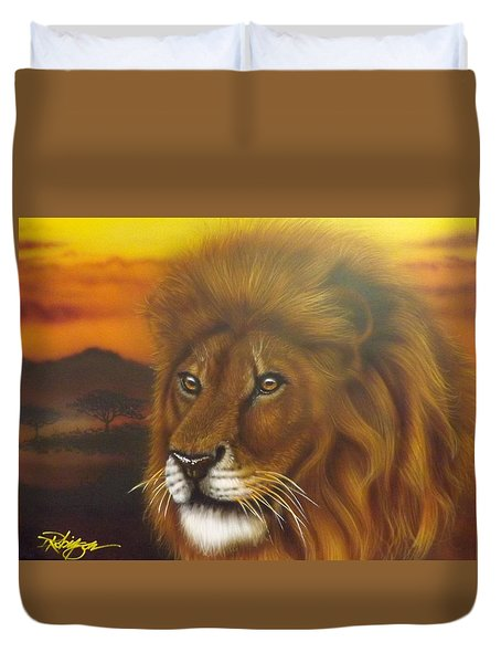 Serengeti King Duvet Cover