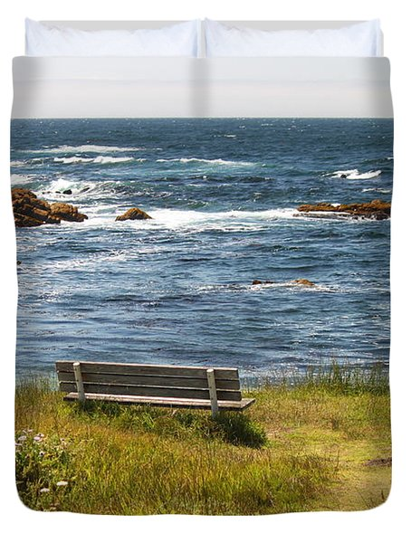 Serenity Bench Duvet Cover by Bev Conover