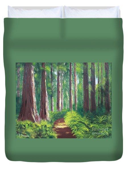 Serenity Forest Duvet Cover by Bev Conover