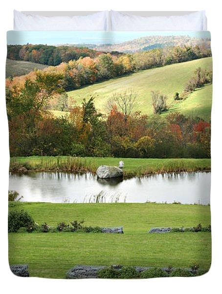 Duvet Cover featuring the photograph Serenity Hill by Carol Lynn Coronios
