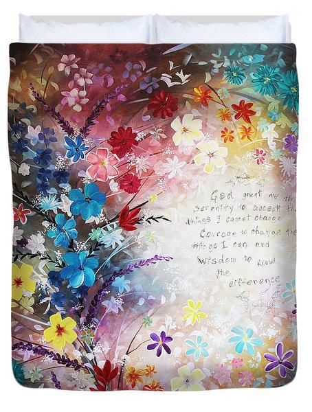 Serenity Prayer Duvet Cover