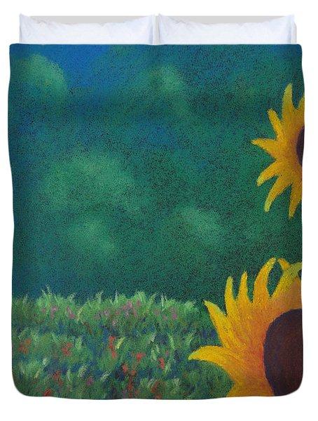 Sergi's Sunflowers Duvet Cover
