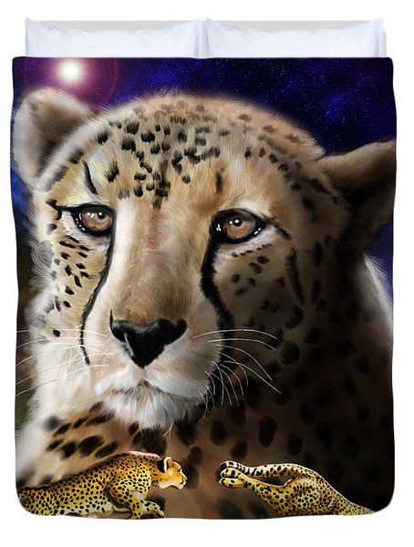 First In The Big Cat Series - Cheetah Duvet Cover