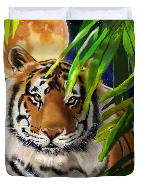 Second In The Big Cat Series - Tiger Duvet Cover