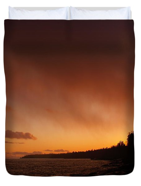 Set Fire To The Rain Duvet Cover