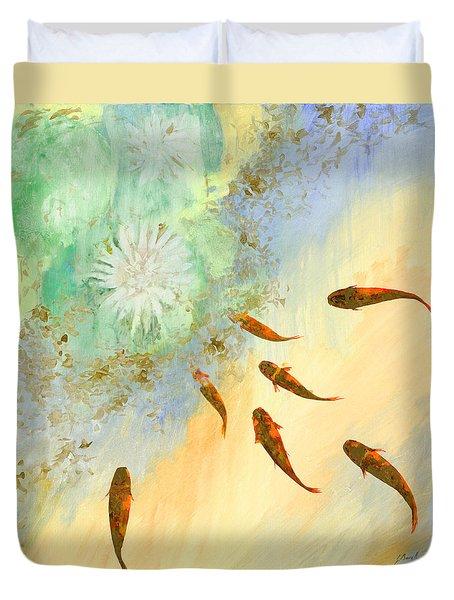 Sette Pesciolini Verdi Duvet Cover