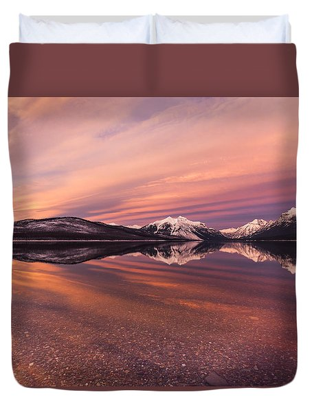 Setting On Glacier Duvet Cover