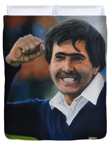 Seve Ballesteros Oil On Canvas Duvet Cover