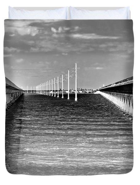 seven mile bridge BW Duvet Cover