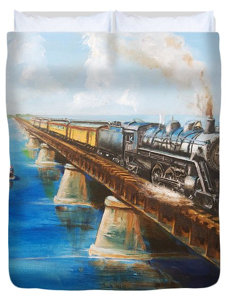 Seven Mile Bridge Duvet Cover