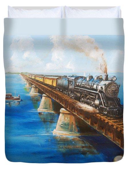 Seven Mile Bridge Duvet Cover by Christopher Jenkins