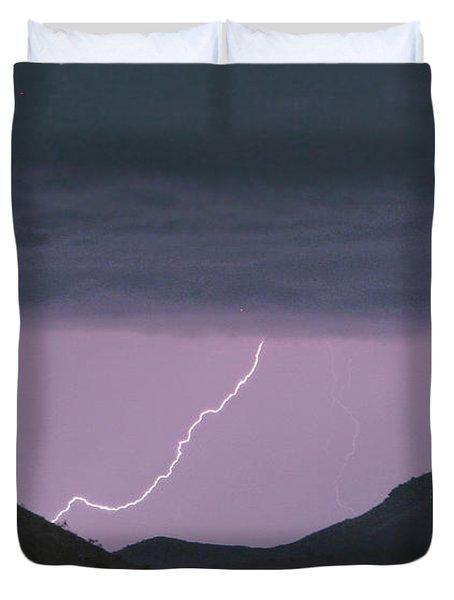 Seven Springs Lightning Strikes Duvet Cover by James BO  Insogna