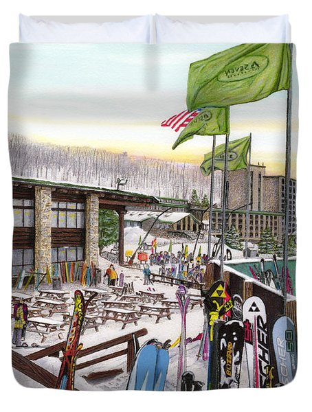 Seven Springs Mountain Resort Duvet Cover by Albert Puskaric