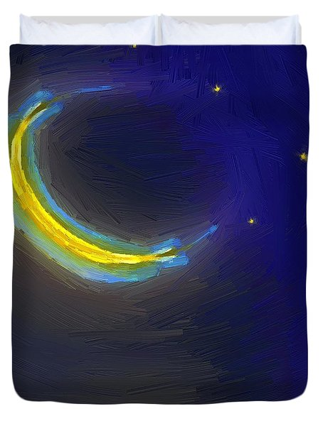 Seven Stars And The Moon Duvet Cover by RC deWinter