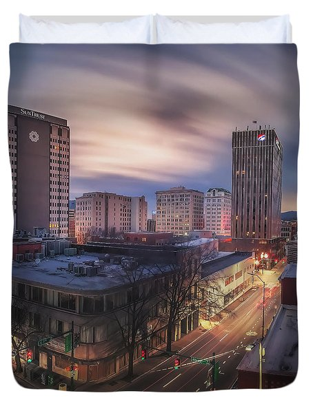 Seventh And Cherry Duvet Cover