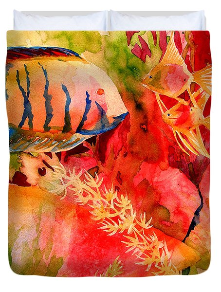 Severums And Angels  Duvet Cover