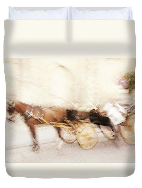 Seville Impression Duvet Cover by Jenny Rainbow