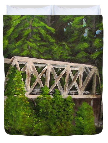 Sewalls Falls Bridge Duvet Cover