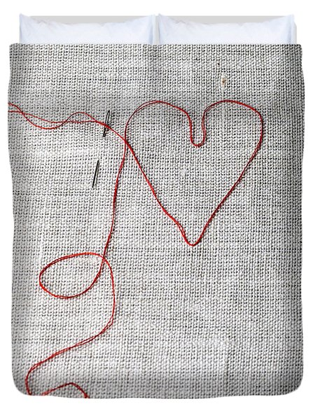 Sewing A Heart Duvet Cover
