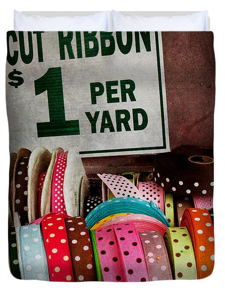 Sewing - Ribbon By The Yard Duvet Cover by Mike Savad