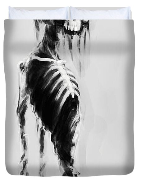Sexy Bones Duvet Cover by Tbone Oliver