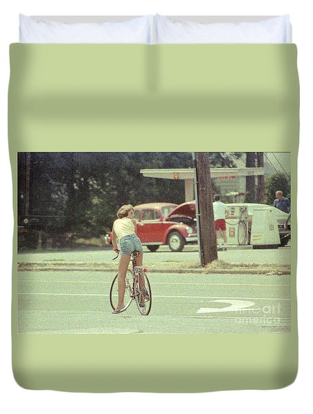 Duvet Cover featuring the photograph Sexy Bum by Steven Macanka
