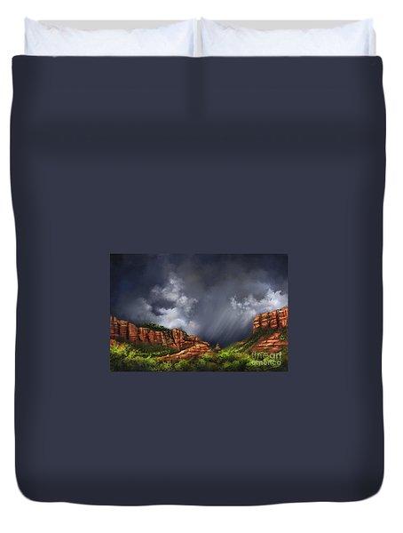 Thunderstorm In Sedona Duvet Cover