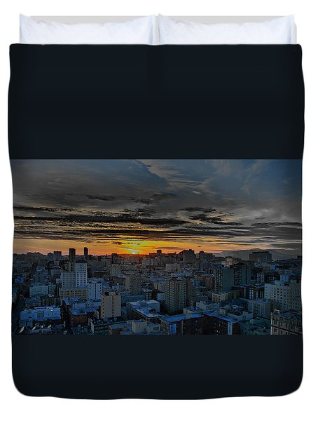 Sfo Sunset Duvet Cover