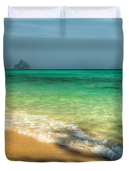 Shaded Beach Duvet Cover by Adrian Evans