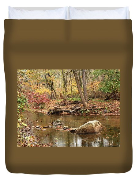 Shades Of Fall In Ridley Park Duvet Cover by Patrice Zinck