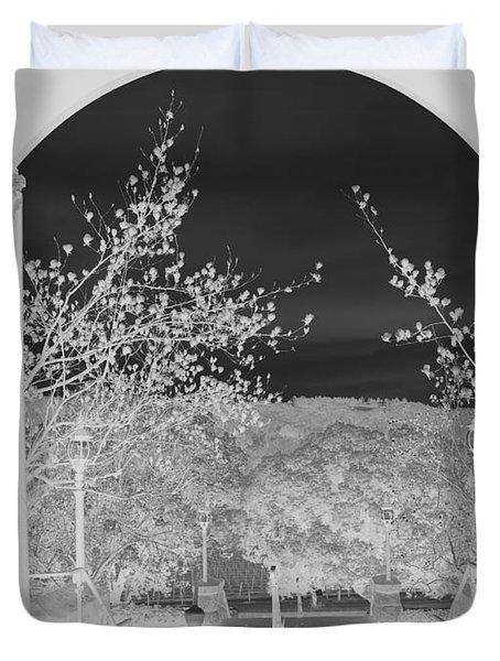 Shades Of Grey Duvet Cover by Carol Lynn Coronios