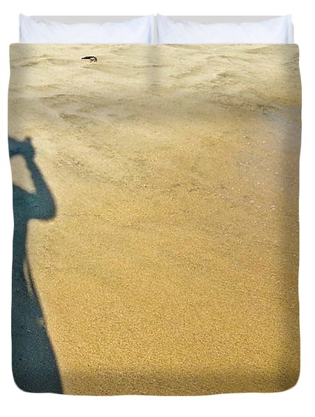 Shadow And Sand Raw Duvet Cover
