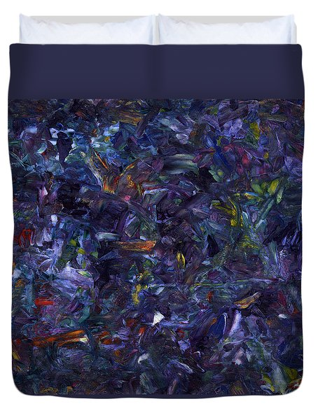 Duvet Cover featuring the painting Shadow Blue by James W Johnson