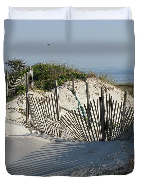 Shadow Fence Duvet Cover by Ellen Meakin