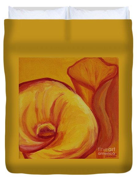 Shadow Lily Duvet Cover