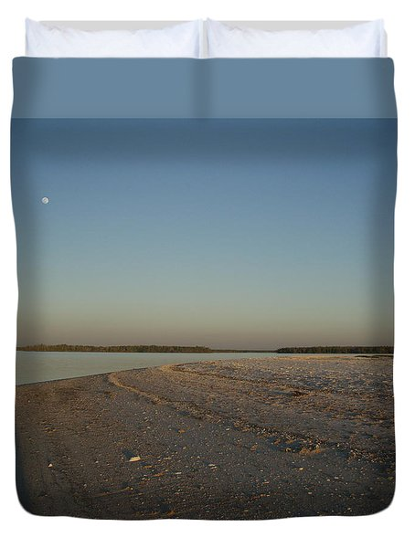 Duvet Cover featuring the photograph Shadow Moon by Robert Nickologianis
