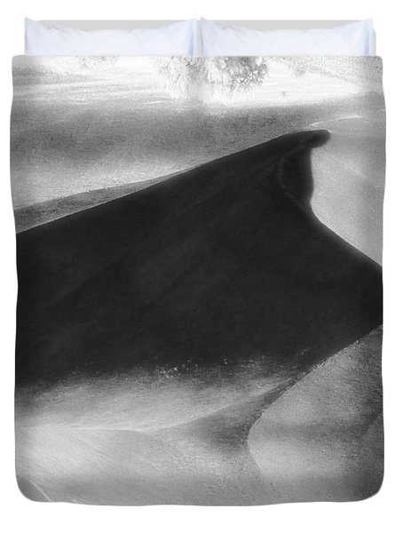 Shadow On The Land Duvet Cover by Newel Hunter