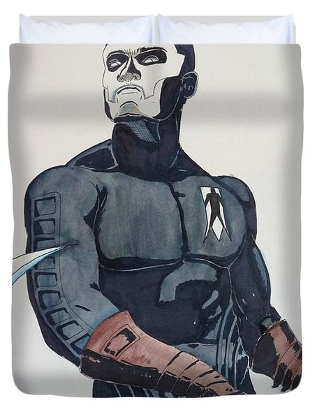 Shadowman II Duvet Cover