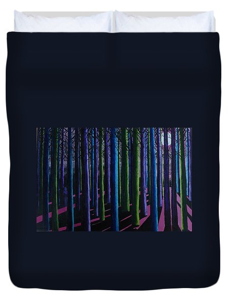 Shadows And Moonlight Duvet Cover