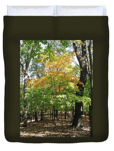 Shadows In The Forest Duvet Cover