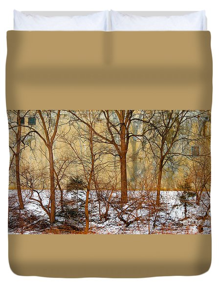 Duvet Cover featuring the photograph Shadows In The Urban Jungle by Nina Silver