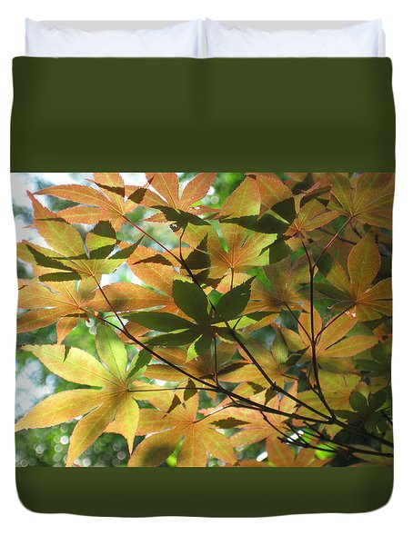 Shadows Of Maple  Duvet Cover