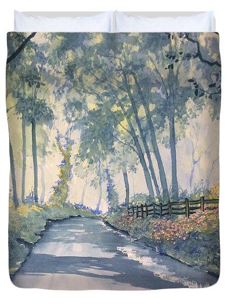 Shadows On The Setterington Road Duvet Cover