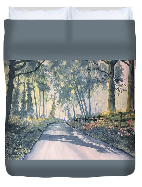 Shadows On The Setterington Road Duvet Cover